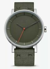 ADIDAS  BY NIXON, DISTRICT W_1 WATCH,40MM SILVER / RAW KHAKI  NEW NYLON/ METAL
