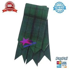CC Mens Kilt Flashes Black Watch Tartan/Scottish Kilt Hose Sock Flashes Tartans