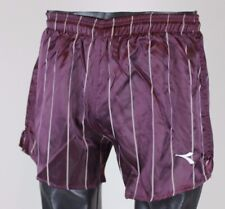 VINTAGE NOS DIADORA YOUTH SOCCER FOOTBALL PURPLE STRIPED SHORTS SIZE LARGE L