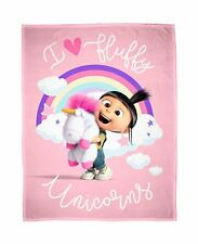 Despicable Me 3 Daydream Fleece Blanket Kids Throw Over Huddle Girls Pink Minion