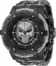 Invicta Men 53mm Lim E Marvel Punisher Bolt Chronograph Black Silver Swiss Watch