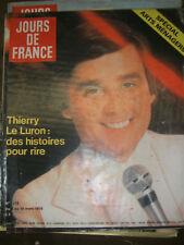 Jours de France N° 1212 4 mars 1978 Thierry Le Luron Mode Balmain Arts ménagers