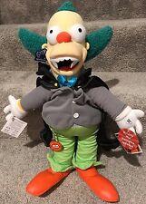 NEW 2003 Simpsons TALKING Vampire Krusty the Clown Plush Doll Applause 18 inch