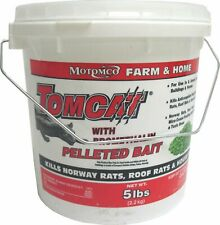 Motomco Tomcat Mice Rat Bait 5 Lbs. Poison Rodent Food Pest Control Trap Killer