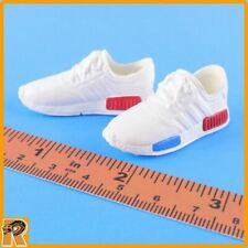 Running Sneakers - White Shoes for Feet - 1/6 Scale Zy Toys Action Figures
