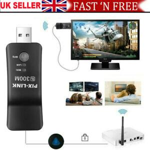 Samsung Capable Smart TV LAN Adapter Ethernet WiFi Wireless Dongle 300M RJ-45 UK