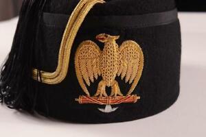 WW2 Italian HIGH LEADERS SUMMER FEZ HAT CAP HEADWEAR 58cm LGE IL DUCE ISR
