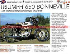 TRIUMPH 650 Bonneville T120 ( T 120 ) 1969 Fiche Moto 000247
