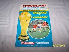 FIFA World Cup Match Group IV ~ Programme ~ England v Hungary 18/11/81