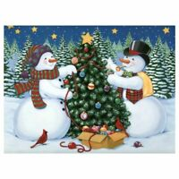 Diamond Embroidery DIY Diamond Painting Snowman Christmas Tree Diamond Pain E8E8