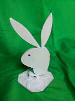 """Vintage Playboy Bunny Icon Steel Sculpture 7"""" Tall"""