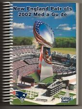 2002 New England Patriots Football Official Media Guide Gillette Stadium CMGI