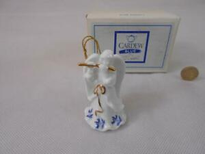 Paul Cardew Blue - Angel,Playing a flute, Christmas Tree Ornament.