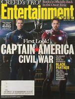 CAPTAIN AMERICA - CIVIL WAR / BLACK PANTHER 2015 ENTERTAINMENT WEEKLY Magazine