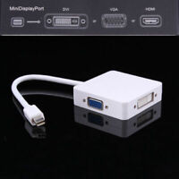 Mini DP (Thunderbolt Port Compatible) to DVI VGA HDMI 3In1 Adapter X MacBook Air