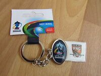 RUGBY League World Cup ENGLAND & WALES 2013 Papua New Guinea PNG Metal Keyring
