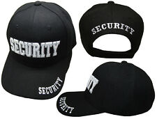 Security 3-D White Letters Black Embroidered Baseball Hat Cap (RAM)