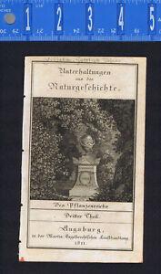 Naturalist J.P. von Cobres-1811 Gottlieb Tobias Wilhelm Plant Kingdom-Title Page