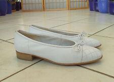 ARA Ballerinas Gr. DE 40 Weite F wollweiss weiss Echtleder