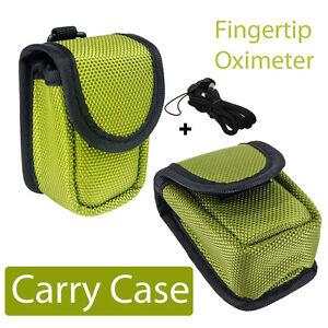 Finger Pulse Oximeter Oxymeter SPO2 Monitor Portable Quality EVA Carry Case