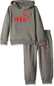 Puma Big Boys' Pullover Hoodie & Jogger Pants Set (Charcoal Heather, 8-17 Years)