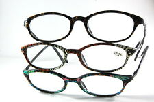 UV 0563 Lady Reading Glass Color Frame +2.25 3 for 1 price