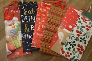 Christmas Bottle Bags x 6