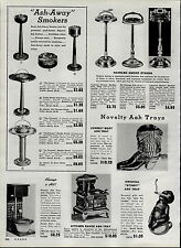 1951 PAPER AD Ashaway Smoker Ash Tray Stand Toilet Cowboy Boot Black Negro Baby