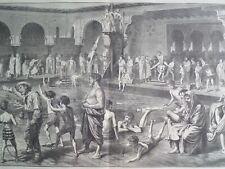 Deligny Pool Seine at Paris Swimming Bath 1873 Harper's Weekly 1873