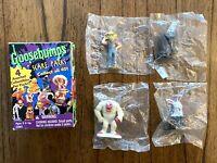 Vintage Goosebumps Scare Packs 4 Mini Figures Lot Box Set New NIB 1996 90s Rare