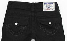 NEW True Religion Straight W / Flaps Black Jeans MENS 32 x 34 Jet Black