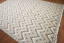 9' x 12' Traditional Oriental Area Rug New Zealand wool & silk 9x12 Beige