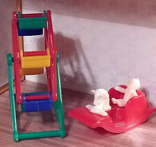 VINTAGE ACME MINIATURE 1:16 1:24 DOLLHOUSE HORSE ROCKER MARVI FERRIS WHEEL TOYS!