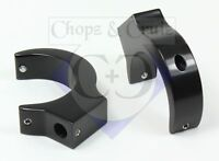 Blinkerhalter für die Gabelholme - 41 mm - 2 Stück - Aluminium schwarz