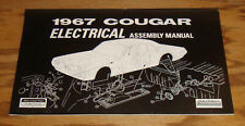 1967 Mercury Cougar Electrical Assembly Manual 67