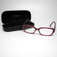 Coach Womens Optical Eyeglasses RX Frame HC6105 5450 Aubergine 50-15-140