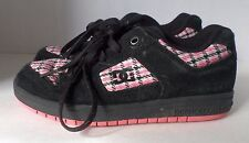 DC Skateboard Shoe Manteca 2 US 6 Kids Leather Black Pink White Athletic Sneaker