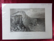 More details for view of scratchells bay, isle of wight antique engraving c1830 veduta art print