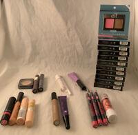 Lot of 28 NEW Cosmetics e.l.f.,RIMMEL LONDON,NYX,COVERGIRL,WET N WILD.