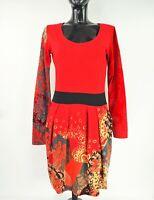 DESIGUAL Women's Long Sleeve Scoop Neck Stretch Jersey Dress size Large