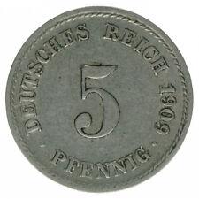 Deutsches Reich 5 Pfennig 1909 F A50441