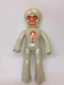 """Vintage TIGER MASK MR. QUESTION Soft Vinyl Figure, NAKAJIMA 70's Japan 10"""" USED"""