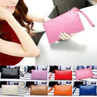 Women PU Leather Long Design Wallet Handbag Purse Day Clutches Phone Cash Bag