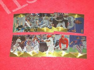 1997 PINNACLE BASEBALL 10 DIFFERENT MUSEUM COLLECTION PARALLEL CARDS (18-21)