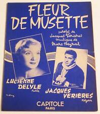 Partition sheet music LUCIENNE DELYLE : Fleur de Musette * 50's JACQUES VERIERES
