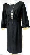 sz M / 12 BOO RADLEY 'Champagne Anyone' charcoal funky wool blend Dress NWT $179