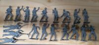 Lot of reissue MPC, Marx Battleground playsets WW2 German soldiers 19 pc