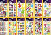 U CHOOSE Sticko BIRTHDAY Stickers PARTY CELEBRATION BALLOONS CUPCAKES PRESENTS