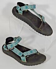 Womens Teva S/M Adjustable Athletic Sport Sandals Size 8 Hiking Black Blue