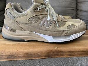 New Balance 992 USA tan Beige Running Shoes Grey Made In USA M992 Men's Sz 11